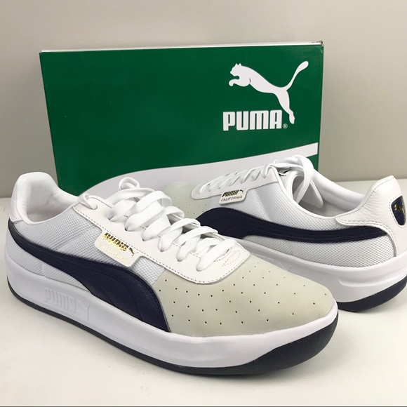 Puma NEW California Casual White peacoat Sneaker NWT